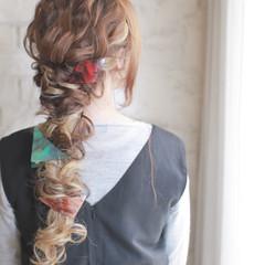 フェミニン パーティ ストリート 大人かわいい ヘアスタイルや髪型の写真・画像