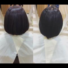 ナチュラル 髪質改善 髪質改善カラー ショートボブ ヘアスタイルや髪型の写真・画像