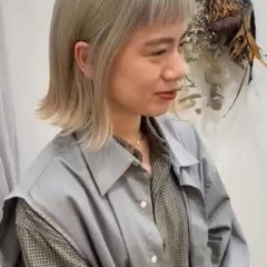 ブリーチカラー ホワイトブリーチ デート ボブ ヘアスタイルや髪型の写真・画像