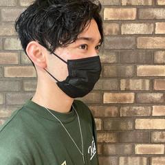 ナチュラル メンズカット 韓国風ヘアー メンズヘア ヘアスタイルや髪型の写真・画像