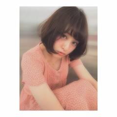 ヘアアレンジ ナチュラル モテ髪 ボブ ヘアスタイルや髪型の写真・画像