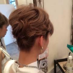 編み込み 大人かわいい アップスタイル コンサバ ヘアスタイルや髪型の写真・画像