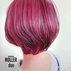 ピンク ストリート ネオンカラー ショート ヘアスタイルや髪型の写真・画像
