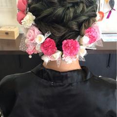 着物 ガーリー 成人式 セミロング ヘアスタイルや髪型の写真・画像
