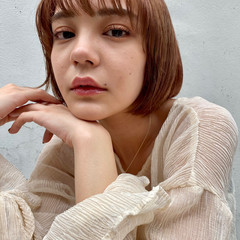 こなれ感 ハイトーン ミニボブ ヘルシースタイル ヘアスタイルや髪型の写真・画像