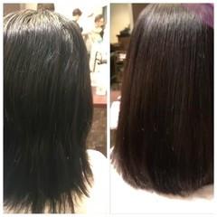ナチュラル ストレート 艶髪 縮毛矯正 ヘアスタイルや髪型の写真・画像
