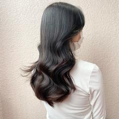 エレガント 波巻き セミロング オルチャン ヘアスタイルや髪型の写真・画像