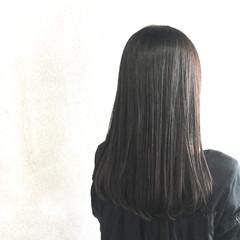 ワンカール セミロング ナチュラル ストレート ヘアスタイルや髪型の写真・画像