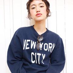 ストリート 外国人風 ショート ヘアアレンジ ヘアスタイルや髪型の写真・画像
