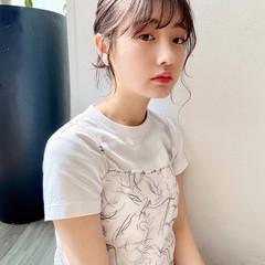 お団子アレンジ ナチュラル ヘアアレンジ 暗髪女子 ヘアスタイルや髪型の写真・画像