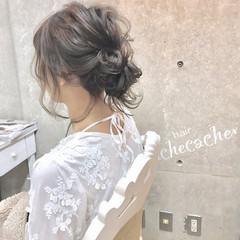 ヘアアレンジ お団子 簡単ヘアアレンジ 結婚式 ヘアスタイルや髪型の写真・画像