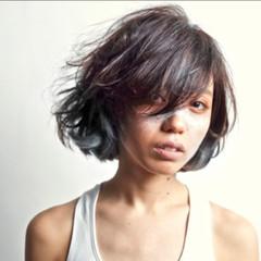 ハイライト ボブ ストリート アッシュ ヘアスタイルや髪型の写真・画像