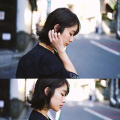 ミディアム ダブルカラー 秋 ストリート ヘアスタイルや髪型の写真・画像