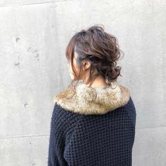 フェミニン ミディアム オフィス 成人式 ヘアスタイルや髪型の写真・画像