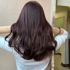 ブリーチなし 色気 ラベンダーピンク ナチュラル ヘアスタイルや髪型の写真・画像