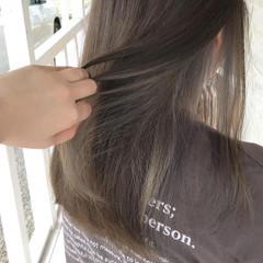 ロング インナーカラー ハイライト ブルージュ ヘアスタイルや髪型の写真・画像