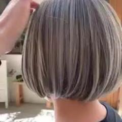 モード ハイライト 艶髪 ゆるふわ ヘアスタイルや髪型の写真・画像