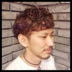 坊主 パーマ ショート ボーイッシュ ヘアスタイルや髪型の写真・画像