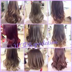 アッシュ ピンク 黒髪 秋 ヘアスタイルや髪型の写真・画像