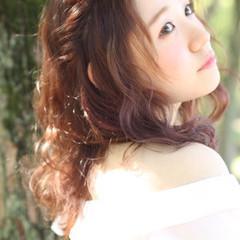 ショート ブラウン セミロング 外国人風 ヘアスタイルや髪型の写真・画像