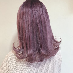 秋冬スタイル ピンクラベンダー ハイトーン ピンクバイオレット ヘアスタイルや髪型の写真・画像