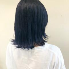ブルーブラック ブルー ブルージュ エレガント ヘアスタイルや髪型の写真・画像