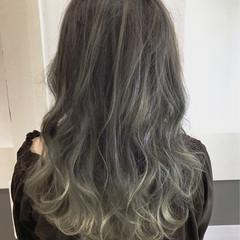 フェミニン 外国人風カラー 透明感 グラデーションカラー ヘアスタイルや髪型の写真・画像