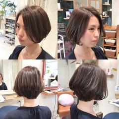 前髪あり 上品 かき上げ前髪 前髪なし ヘアスタイルや髪型の写真・画像