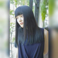 黒髪 ロング ストリート ブリーチ ヘアスタイルや髪型の写真・画像