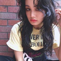 パーマ ニュアンス 外国人風 黒髪 ヘアスタイルや髪型の写真・画像