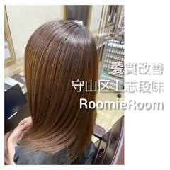 セミロング 髪の病院 名古屋市守山区 美髪 ヘアスタイルや髪型の写真・画像
