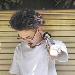 ツイスト ショート メンズ ストリート ヘアスタイルや髪型の写真・画像