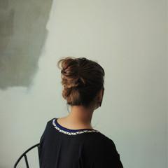 モード 外国人風 簡単ヘアアレンジ ヘアアレンジ ヘアスタイルや髪型の写真・画像