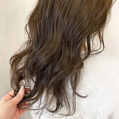 セミロング 極細ハイライト ナチュラル 透明感カラー ヘアスタイルや髪型の写真・画像