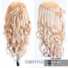 大人かわいい ヘアアレンジ ロング ウォーターフォール ヘアスタイルや髪型の写真・画像