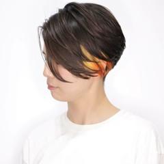 ショートヘア ショート ショートボブ ハンサムショート ヘアスタイルや髪型の写真・画像