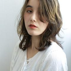 艶髪 セミロング 鎖骨ミディアム 大人ミディアム ヘアスタイルや髪型の写真・画像
