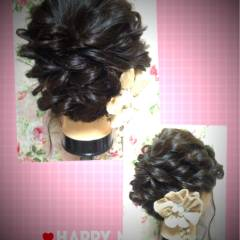 アップスタイル 波ウェーブ ルーズ ヘアアレンジ ヘアスタイルや髪型の写真・画像