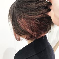 ナチュラル 外国人風カラー ミニボブ ブリーチ ヘアスタイルや髪型の写真・画像