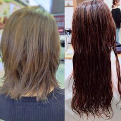 ゆるふわ デジタルパーマ 艶髪 ミディアム ヘアスタイルや髪型の写真・画像