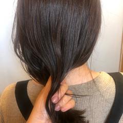 セミロング 秋冬スタイル マロン ナチュラルベージュ ヘアスタイルや髪型の写真・画像