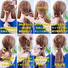 ヘアアレンジ ロング ポニーテールアレンジ ポニーテール ヘアスタイルや髪型の写真・画像