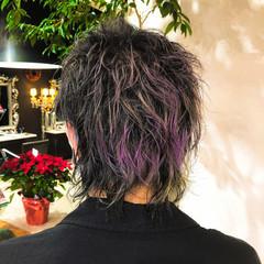 デザインカラー メンズ ストリート ハイトーン ヘアスタイルや髪型の写真・画像