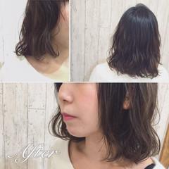 パーマ 黒髪 ナチュラル 外国人風 ヘアスタイルや髪型の写真・画像