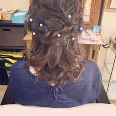 ヘアアレンジ ミディアム エクステ ルーズ ヘアスタイルや髪型の写真・画像
