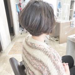 ミニボブ ボブ ショートヘア ナチュラル ヘアスタイルや髪型の写真・画像