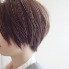 小顔 ハイライト ショートボブ ショート ヘアスタイルや髪型の写真・画像