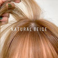 ロング ナチュラルベージュ ナチュラル ベージュ ヘアスタイルや髪型の写真・画像