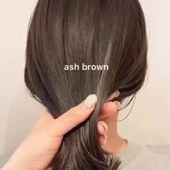 大人可愛い アッシュグレージュ ナチュラル アッシュグレー ヘアスタイルや髪型の写真・画像