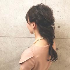 ハーフアップ 簡単ヘアアレンジ エレガント 上品 ヘアスタイルや髪型の写真・画像